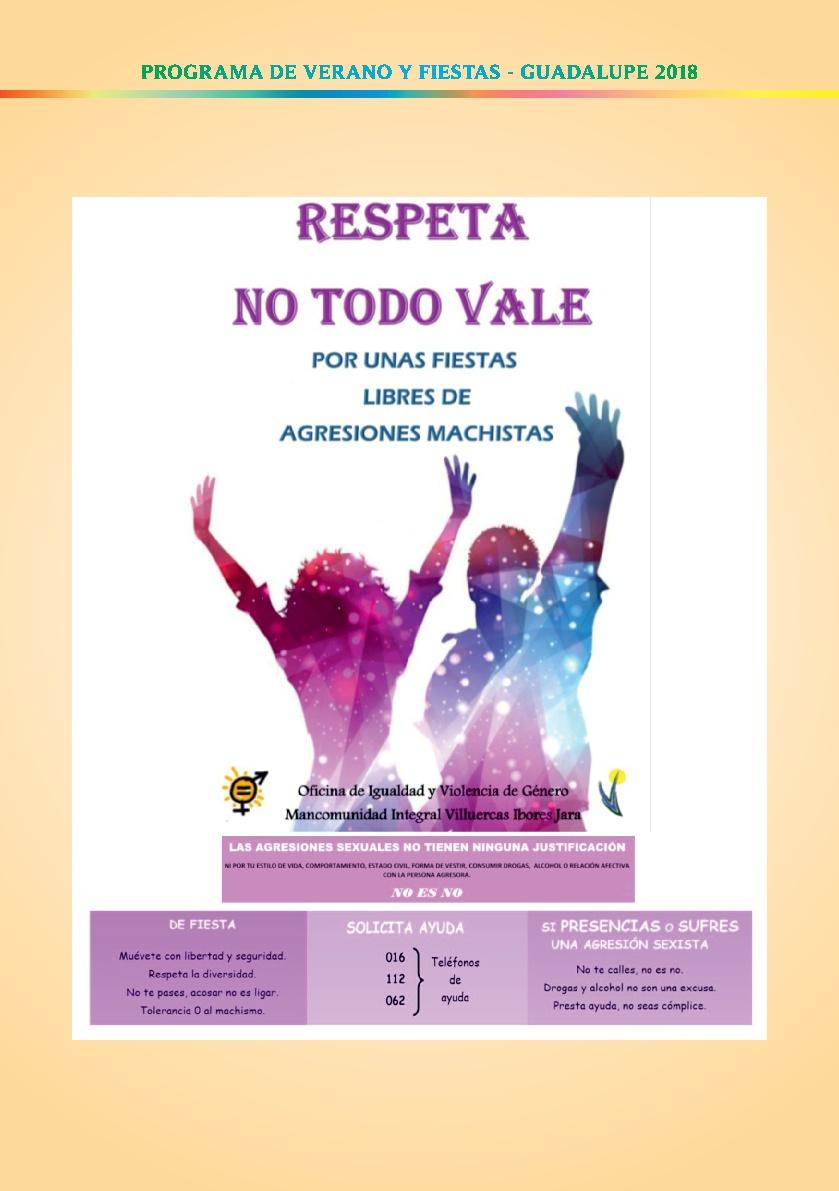 Programa de verano y fiestas 2018 - Guadalupe 13
