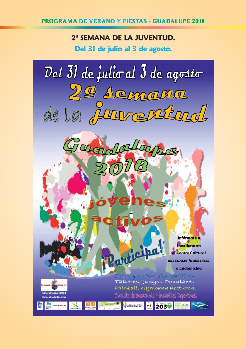 Programa de verano y fiestas 2018 - Guadalupe 5