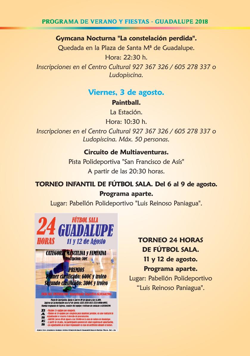 Programa de verano y fiestas 2018 - Guadalupe 7