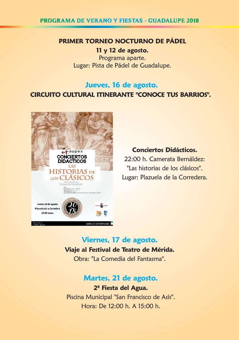 Programa de verano y fiestas 2018 - Guadalupe 8