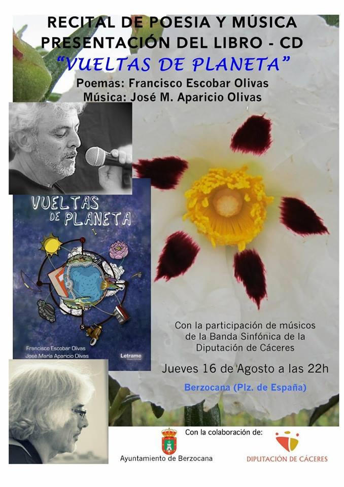 Recital de poesía y música Agosto 2018 - Berzocana