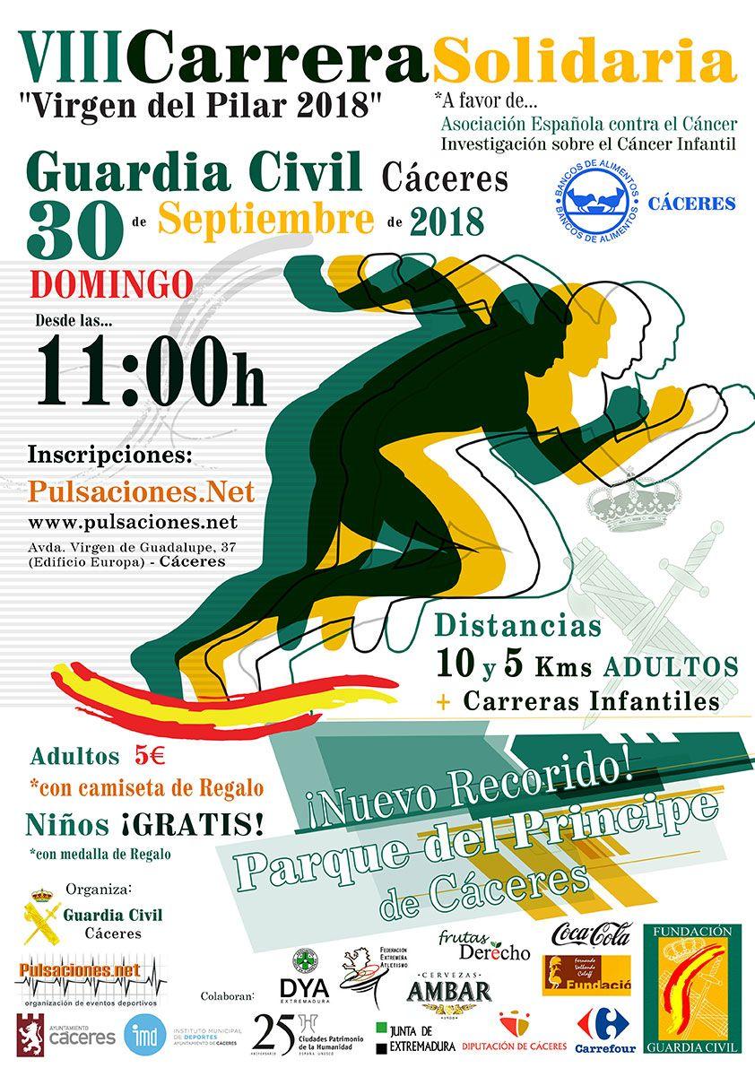 VIII Carrera solidaria Virgen del Pilar 2018 - Cáceres