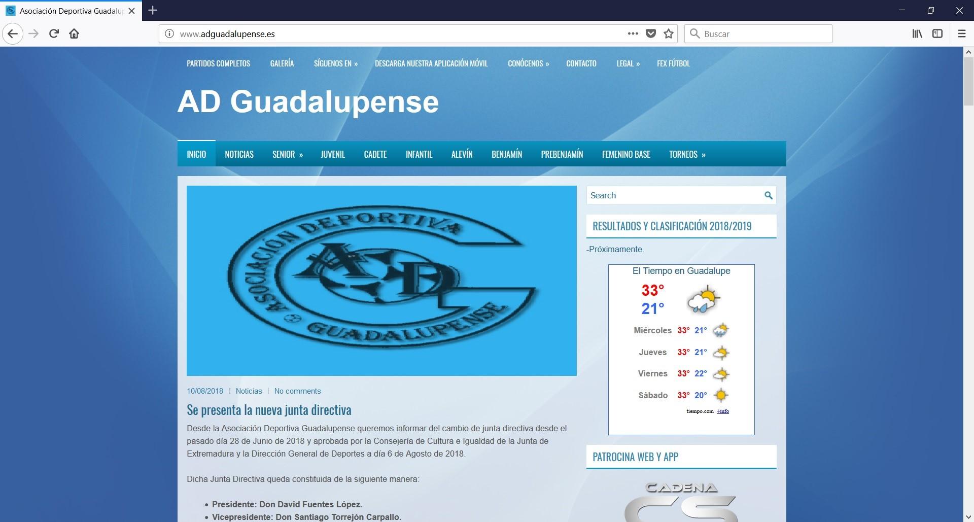 Web AD Guadalupense