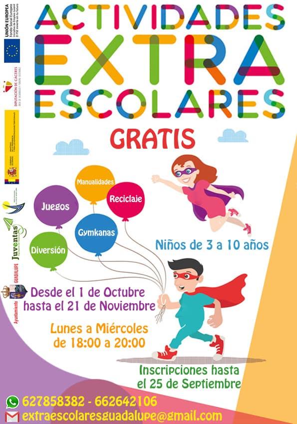 Actividades extra escolares 2018 - Guadalupe (Cáceres)