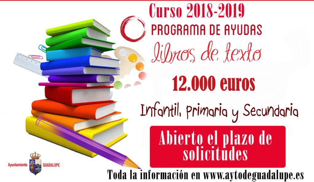 Bases para las ayudas de libros escolares 2018 - Guadalupe (Cáceres)