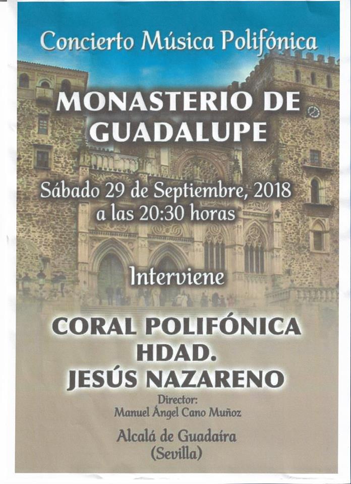 Concierto de música polifónica septiembre 2018 - Guadalupe (Cáceres)