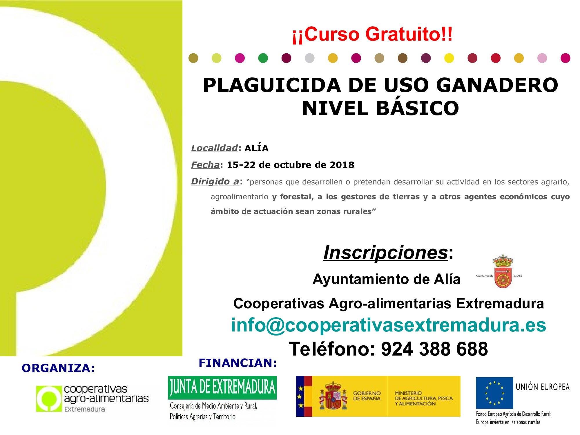 Curso de plaguicida de uso ganadero 2018 - Alía (Cáceres) 1