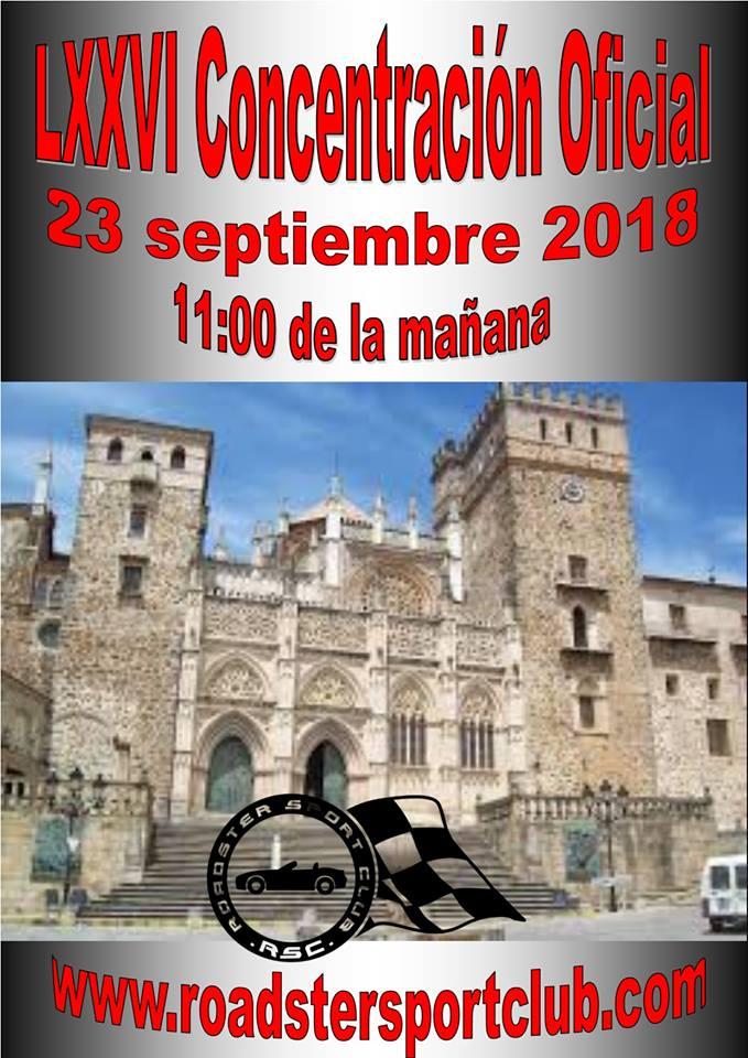 LXXVI Concentración de coches descapotables - Guadalupe (Cáceres)