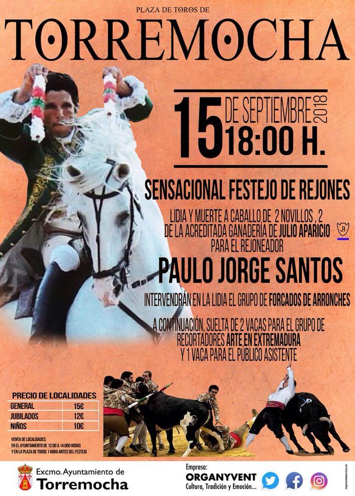 Sensacional festejo de rejones 2018 - Torremocha (Cáceres)