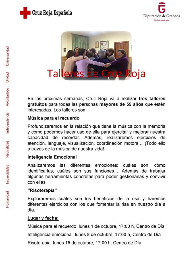 Taller de Cruz Roja para mayores 2018 - Dúrcal (Granada)