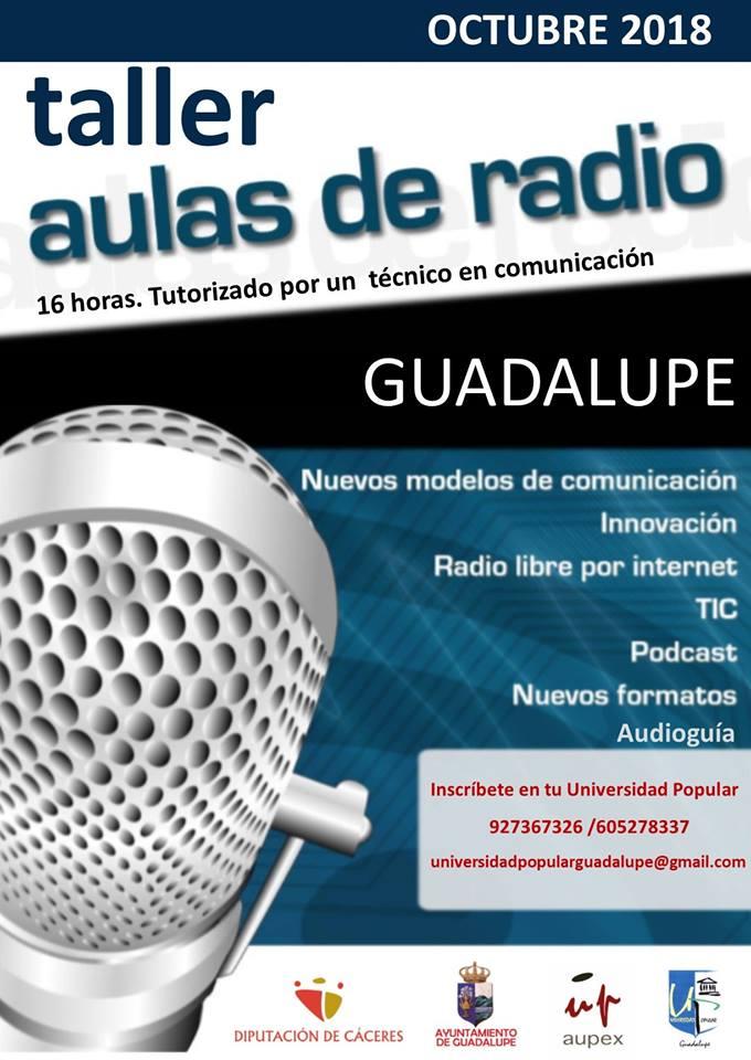 Taller de aulas de radio 2018 - Guadalupe (Cáceres)