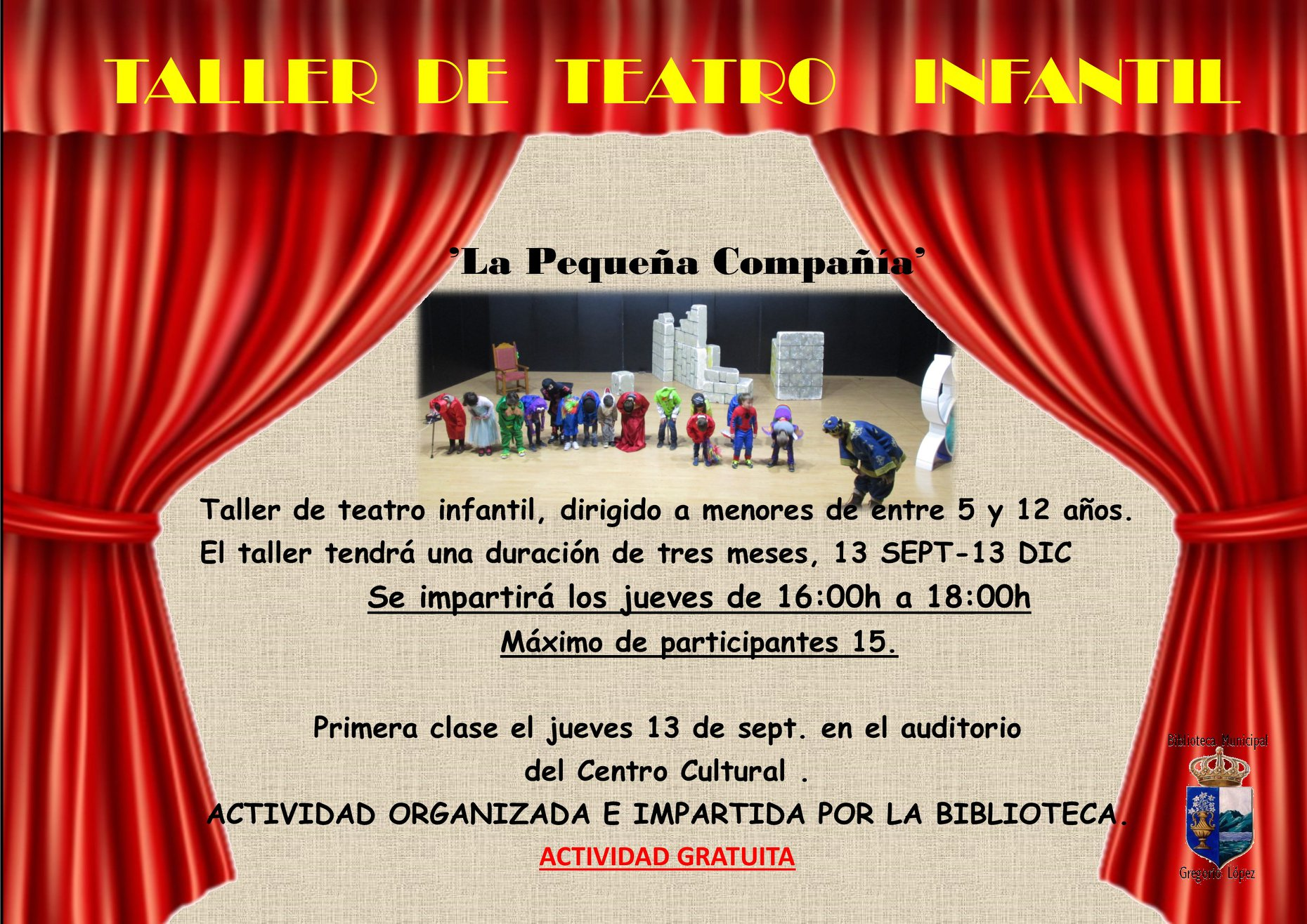 Taller de teatro infantil 2018 - Guadalupe (Cáceres)