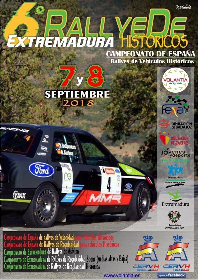 VI Rallye de Extremadura históricos