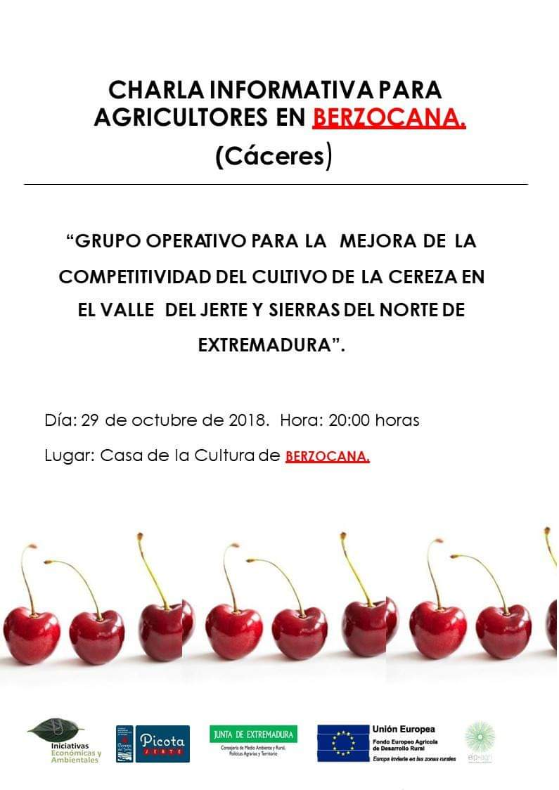 Charla informativa para agricultores octubre 2018 - Berzocana (Cáceres)