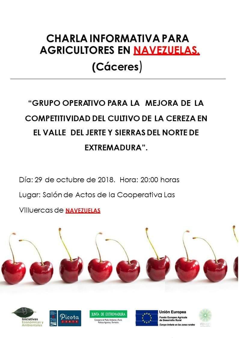 Charla informativa para agricultores octubre 2018 - Navezuelas (Cáceres)