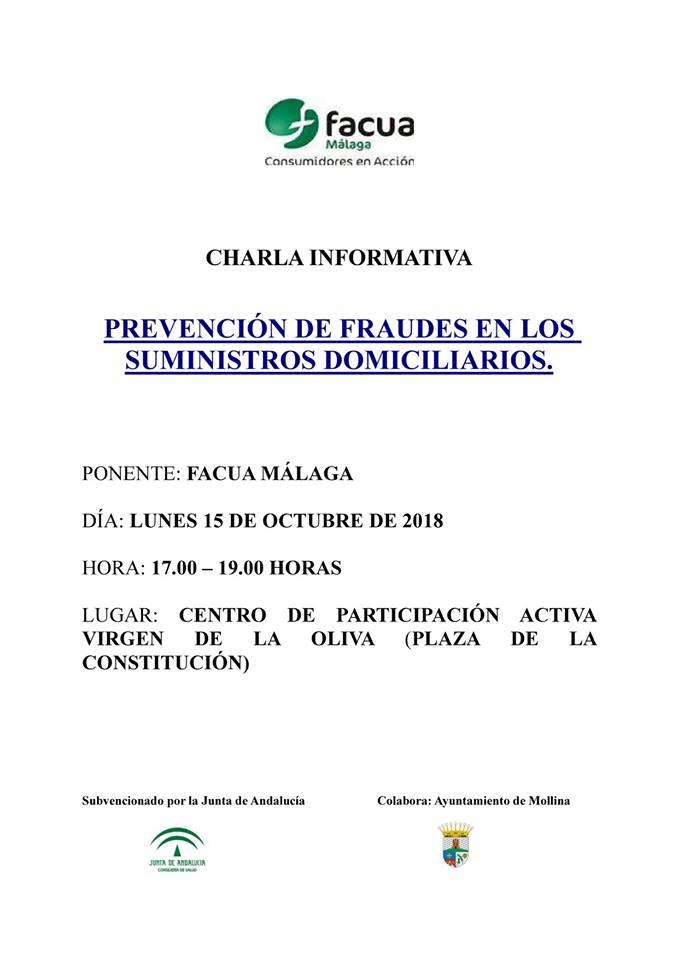 Charla prevención de fraudes domiciliarios 2018 - Mollina (Málaga)