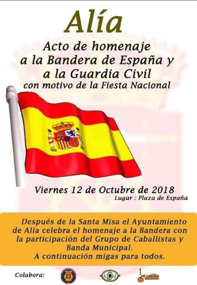 Homenaje a la Bandera de España 2018 - Alía (Cáceres)