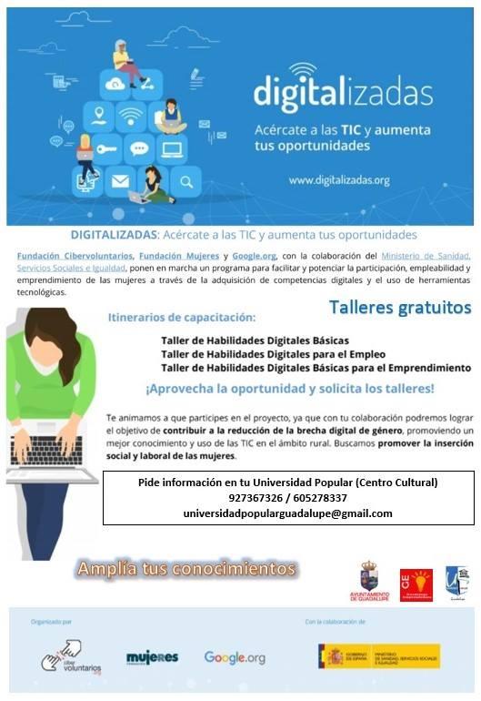Taller Digitalizadas 2018 - Guadalupe (Cáceres)