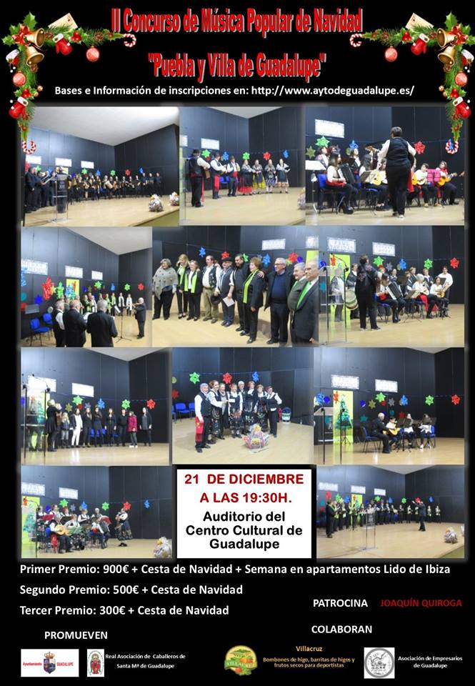 II Concurso de música popular de navidad - Guadalupe (Cáceres)