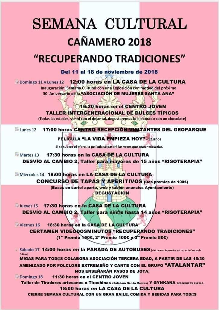 Semana cultural 2018 - Cañamero (Cáceres)