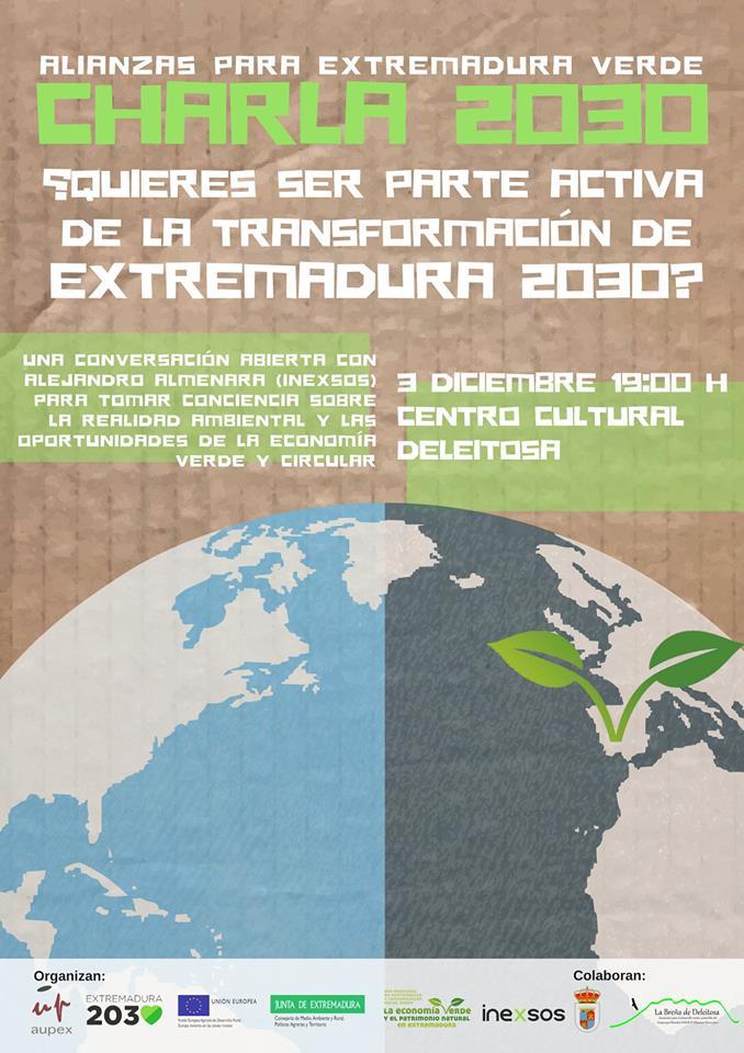 Charla 2030 Alianzas para Extremadura verde - Deleitosa (Cáceres)