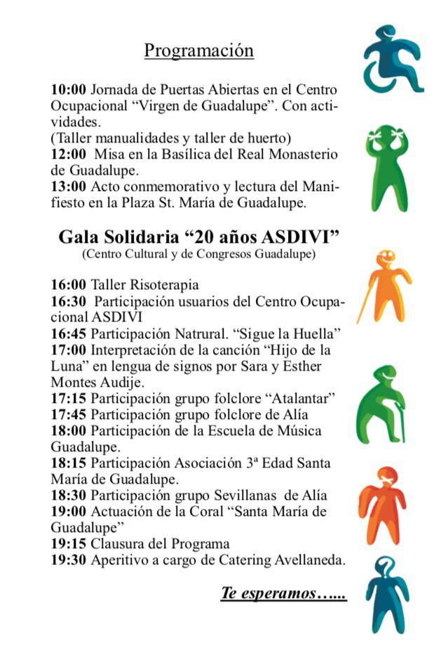Día internacional de las personas con discapacidad 2018 - Guadalupe (Cáceres) 2