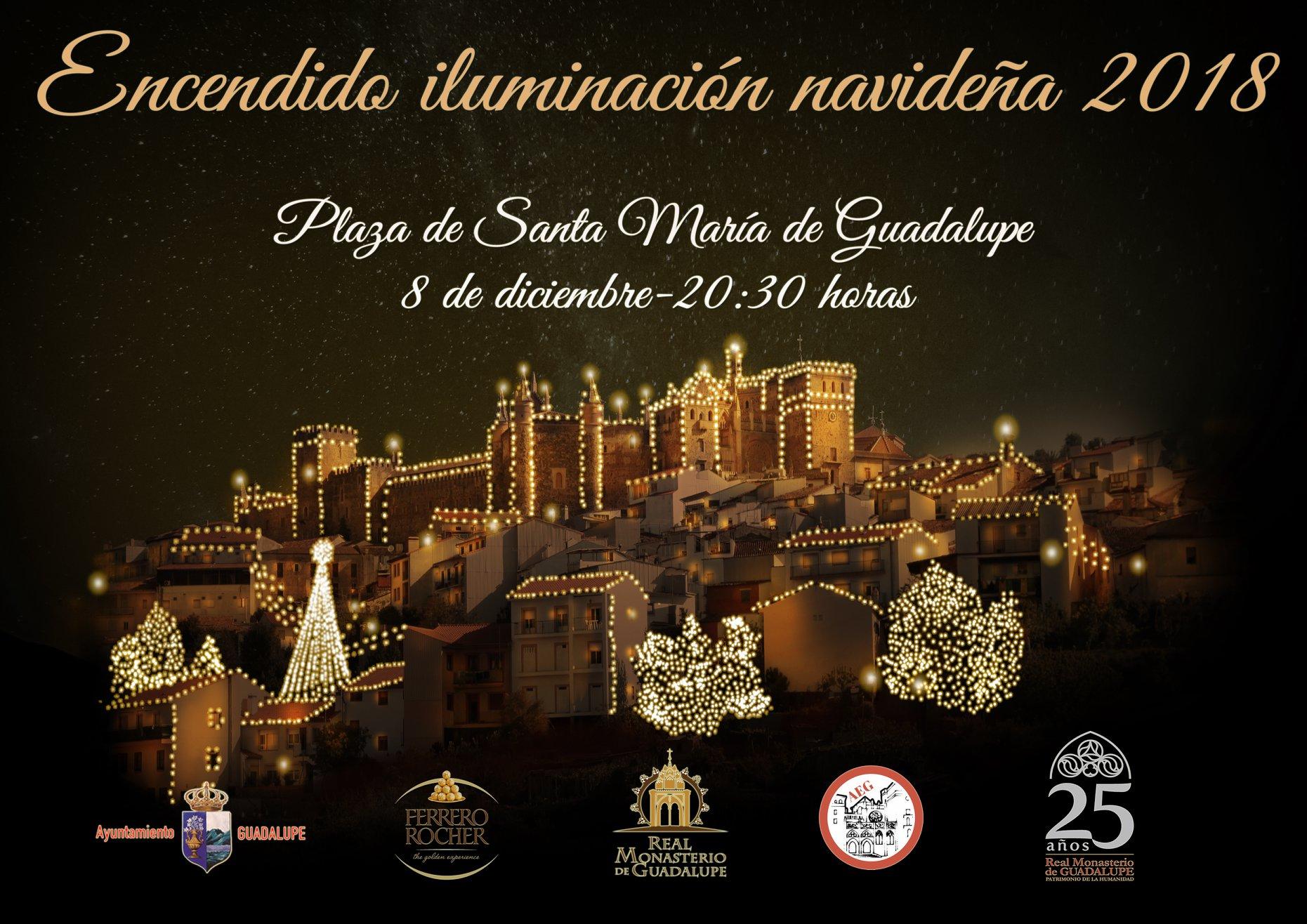 Encendido iluminación navideña 2018 - Guadalupe (Cáceres)