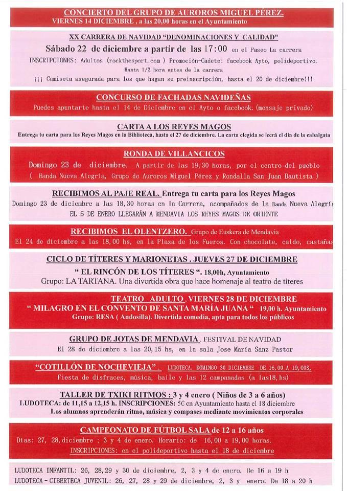 Programa de Navidad 2018-2019 - Mendavia (Navarra) 2