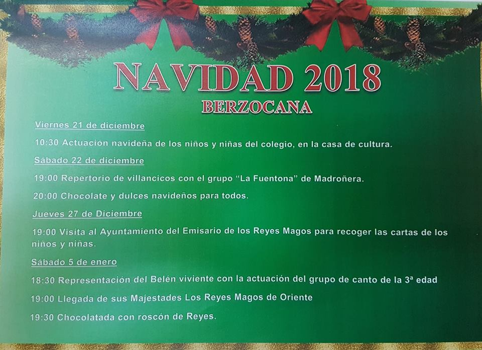 Programa de Navidad 2018 - Berzocana (Cáceres)