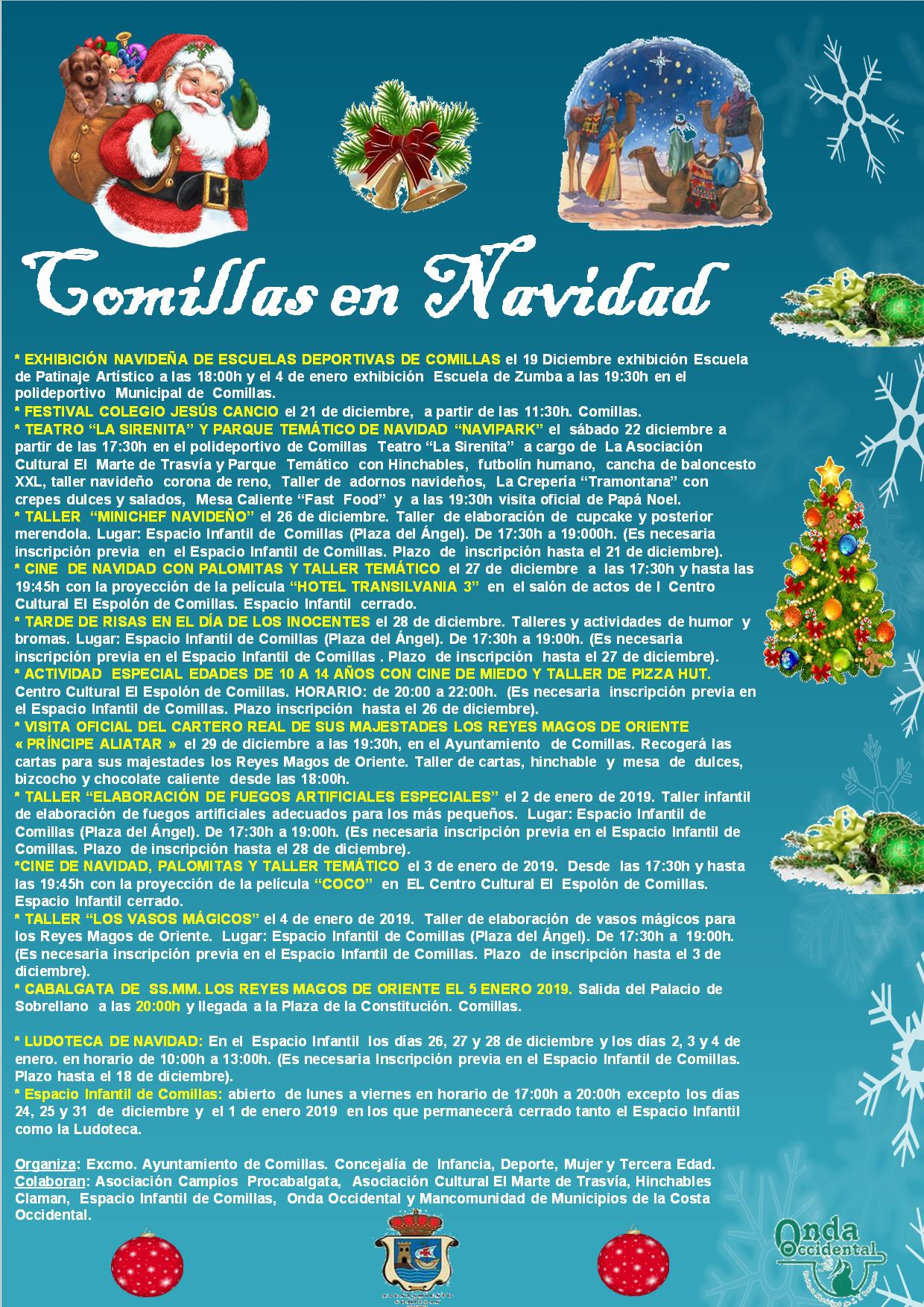 Programa de Navidad 2018 - Comillas (Cantabria)