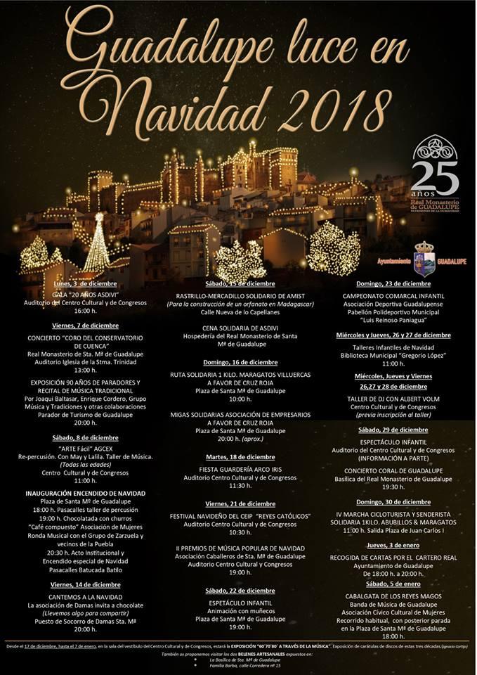Programa de Navidad 2018 - Guadalupe (Cáceres)