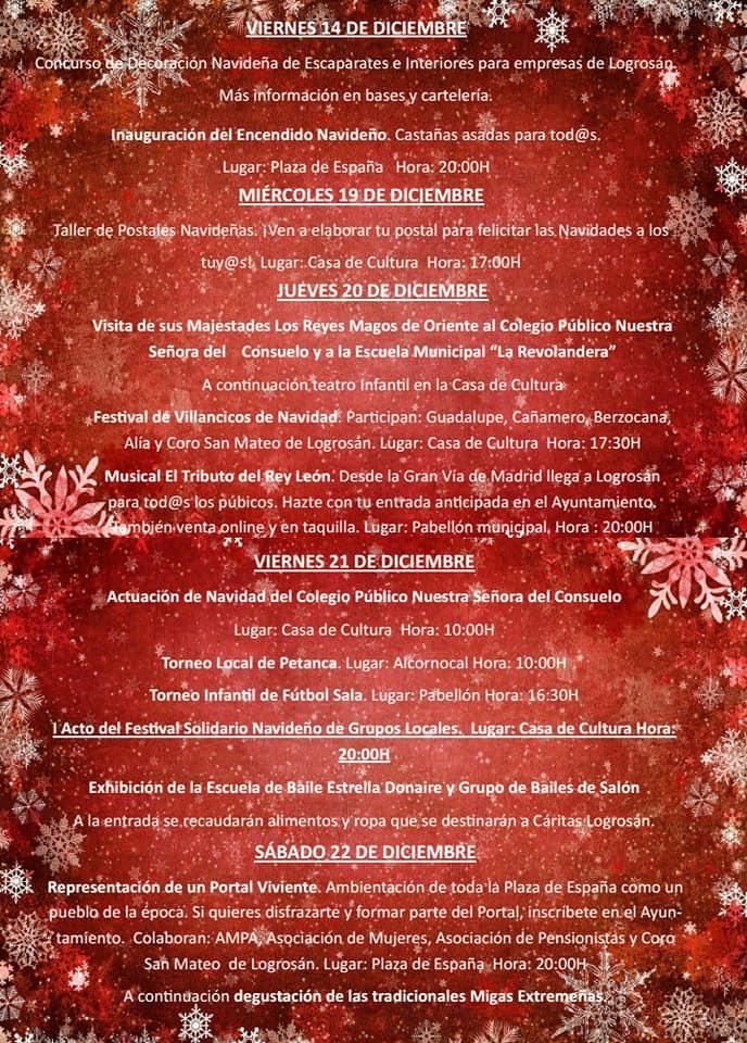 Programa de Navidad 2018 - Logrosán (Cáceres) 2