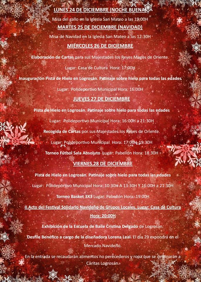 Programa de Navidad 2018 - Logrosán (Cáceres) 3