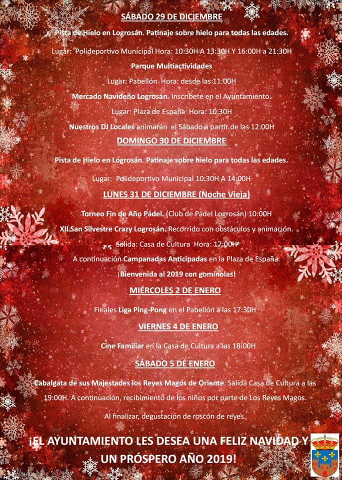 Programa de Navidad 2018 - Logrosán (Cáceres) 4
