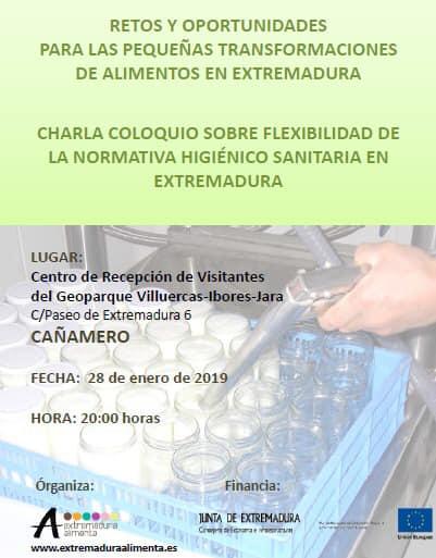 Charla normativa higiénico sanitaria en Extremadura 2019 - Cañamero (Cáceres)