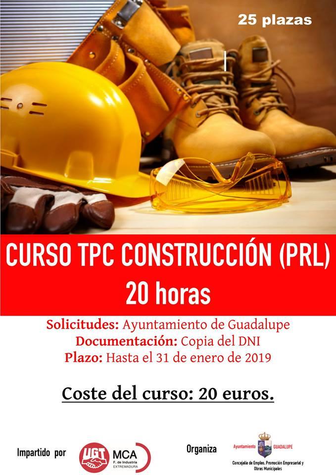 Curso: TPC construcción (PRL) 2019 - Guadalupe (Cáceres)