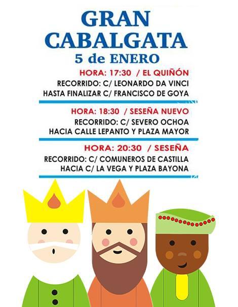 Gran cabalgata de Reyes Magos 2019 - Seseña (Toledo)