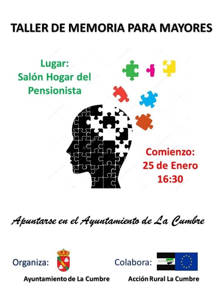 Taller de memoria para mayores 2019 - La Cumbre (Cáceres)