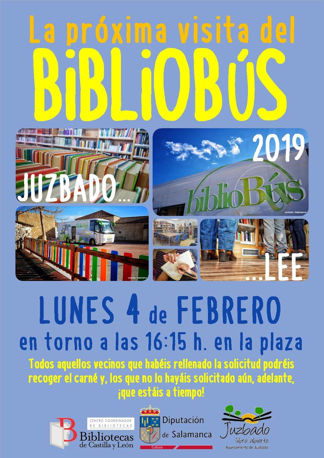Visita del bibliobús febrero 2019 - Juzbado (Salamanca)
