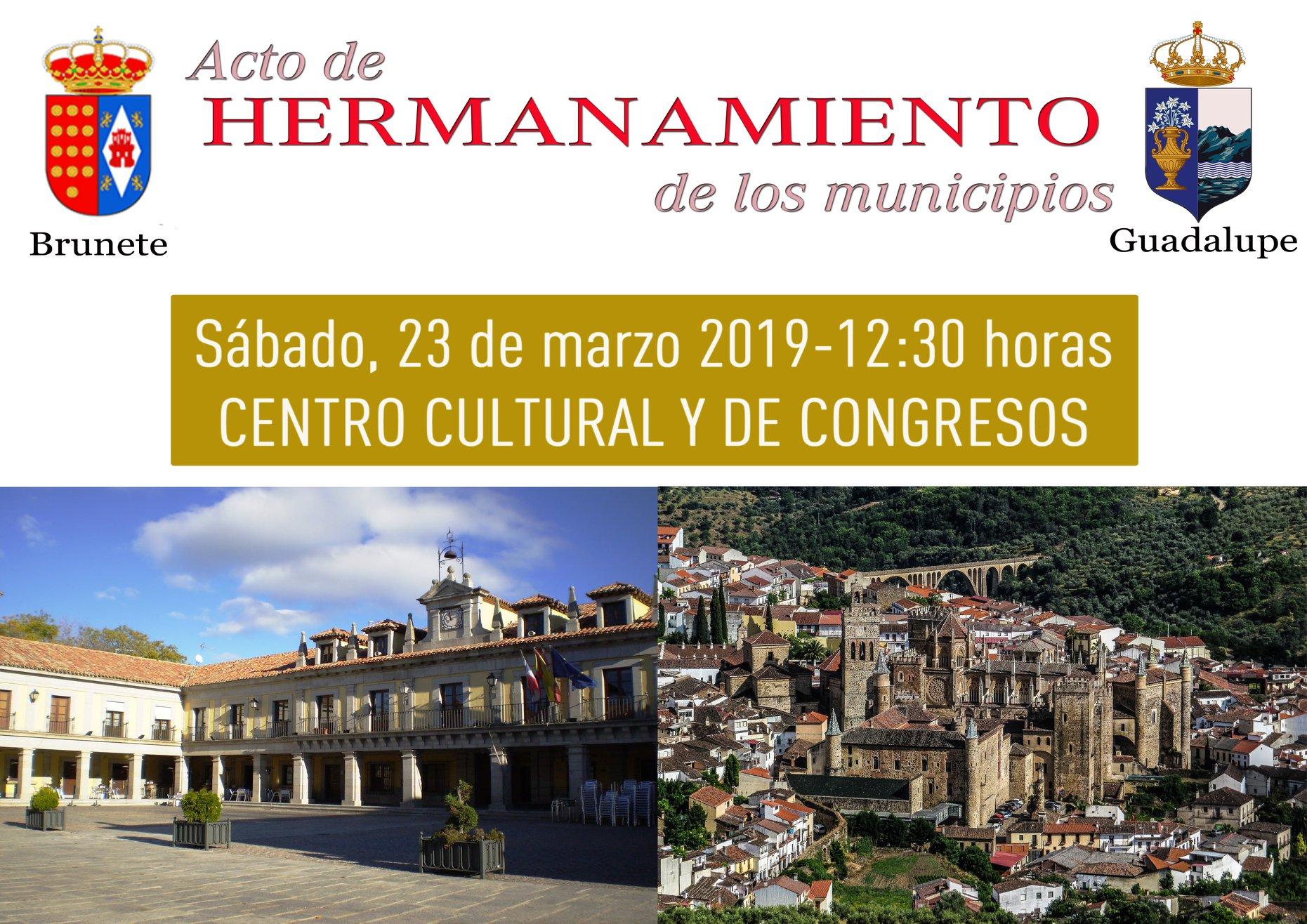 Acto de hermanamiento de los municipios de Brunete y Guadalupe