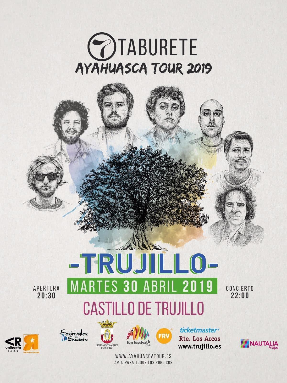 Concierto Taburete 2019 - Trujillo (Cáceres)