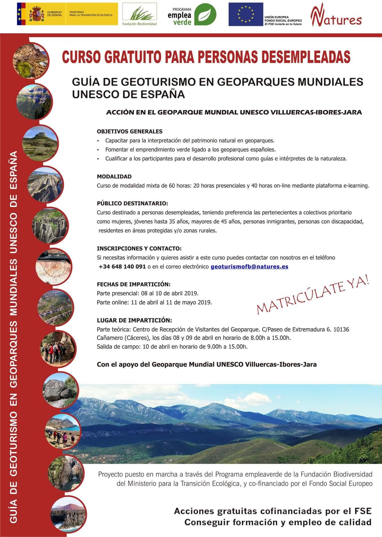 Curso de guía de geoturismo 2019 - Cañamero (Cáceres)