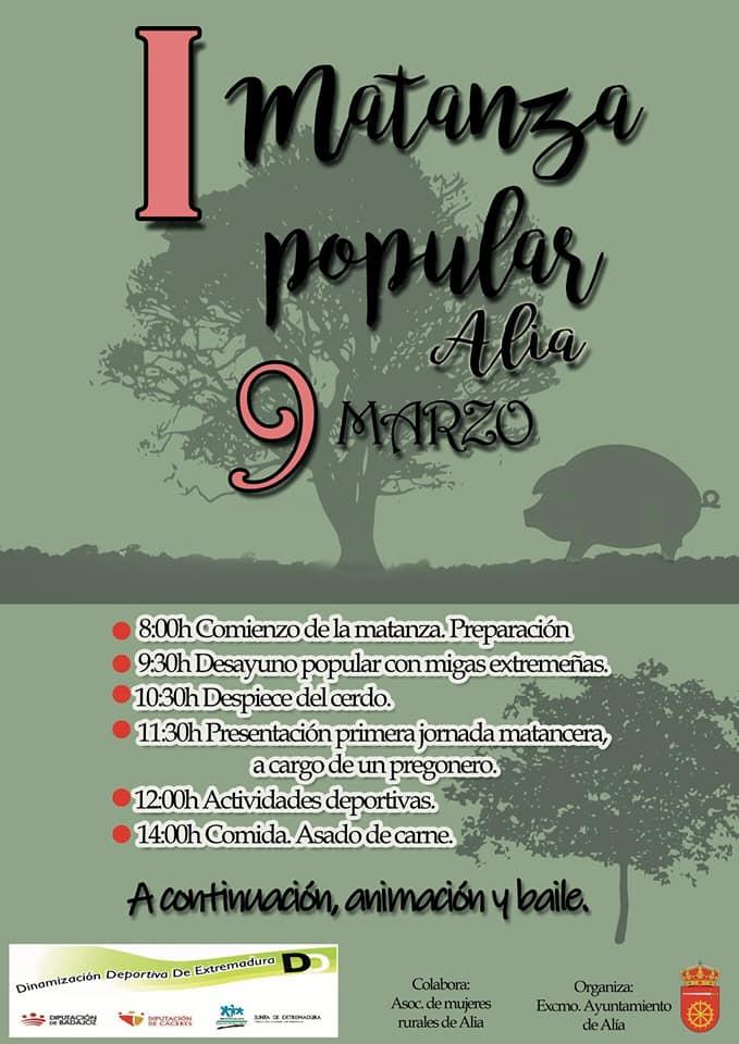 I Matanza popular - Alía (Cáceres)