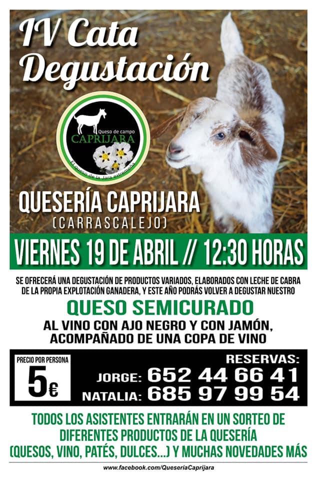 IV Cata degustación Quesería Caprijara - Carrascalejo (Cáceres)