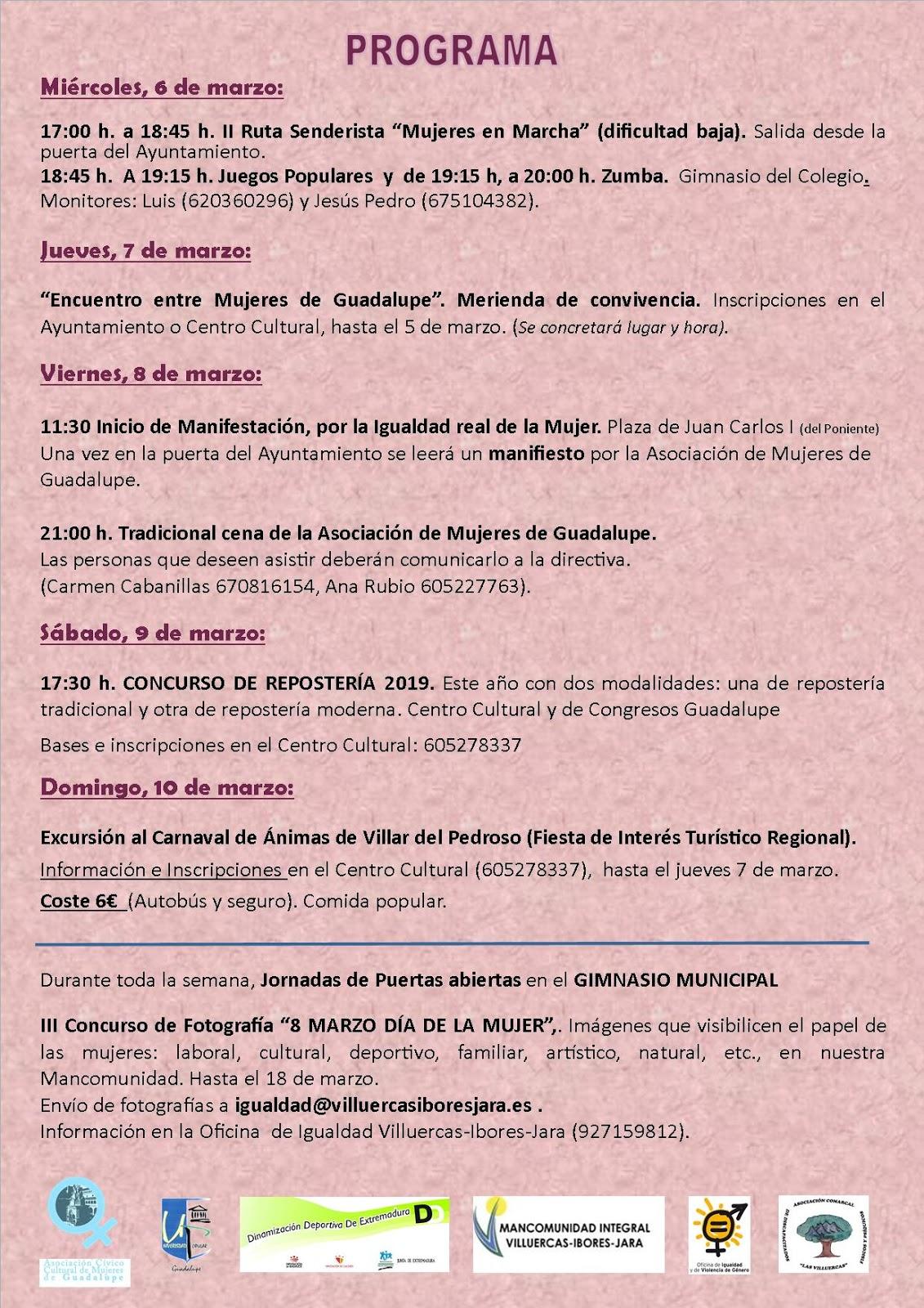 Semana de la mujer 2019 - Guadalupe (Cáceres) 2
