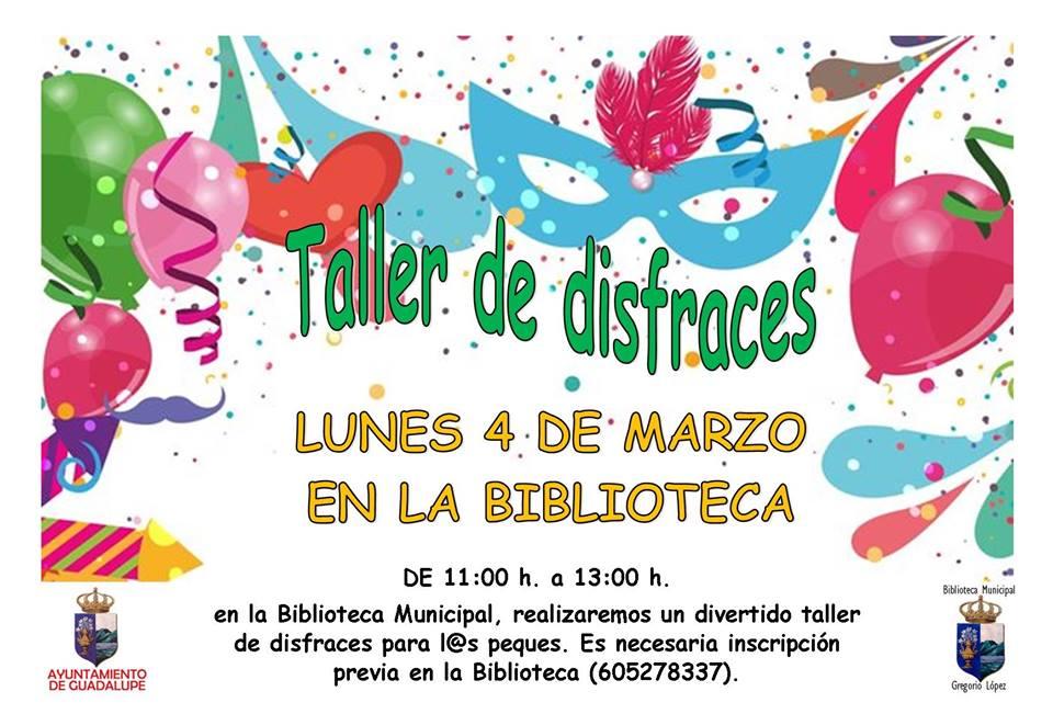 Taller de disfraces 2019 - Guadalupe (Cáceres)