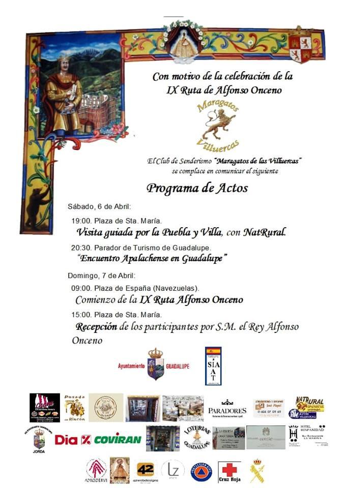 Actos IX Ruta de Alfonso Onceno