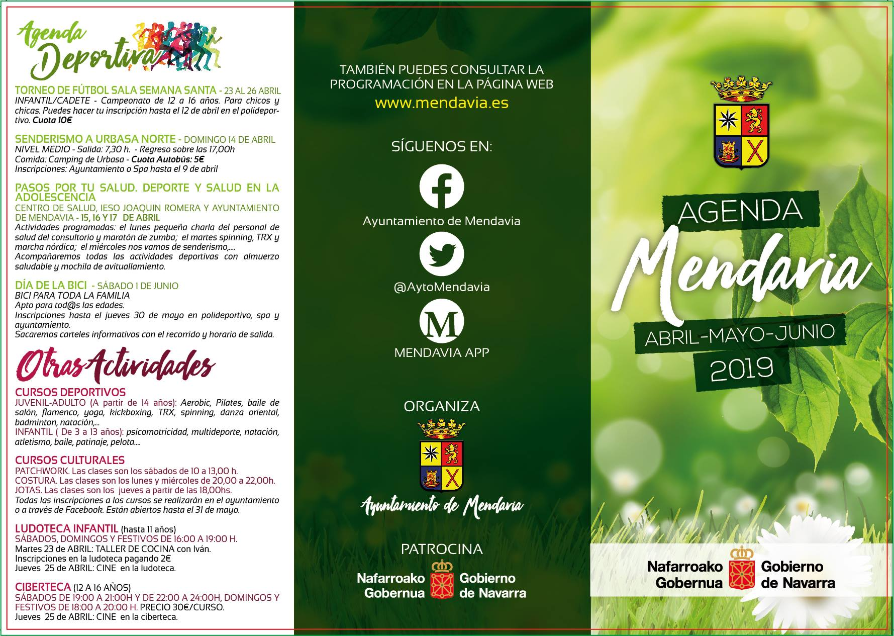 Agenda Abril-Mayo-Junio 2019 - Mendavia (Navarra) 1
