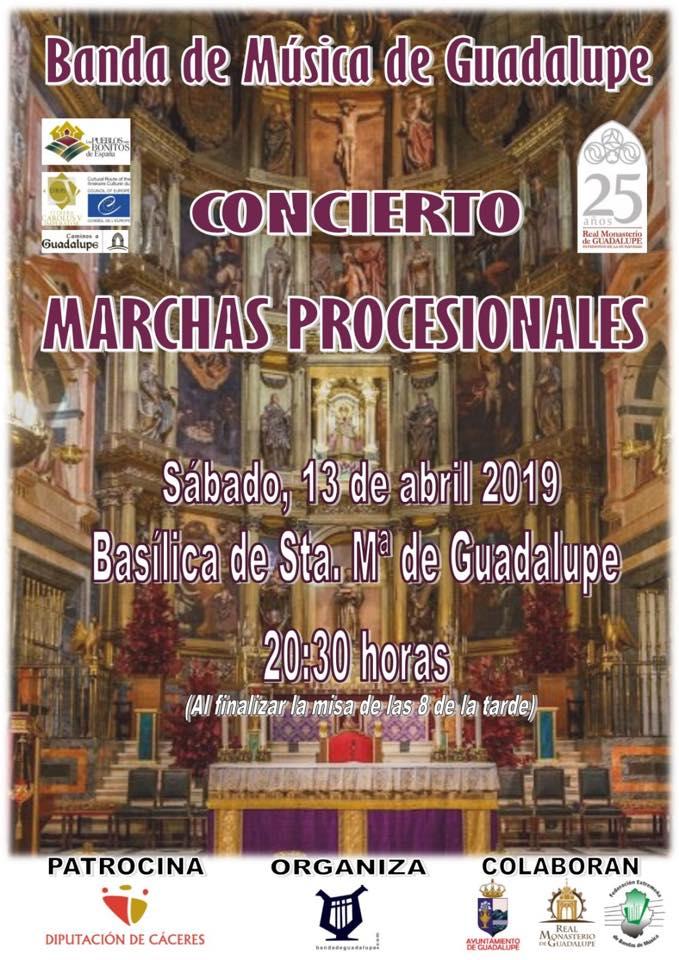 Concierto de marchas procesionales 2019 - Guadalupe (Cáceres)