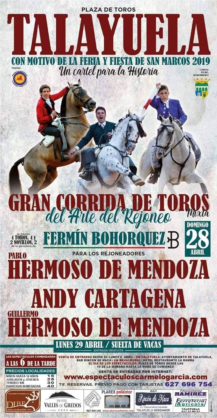 Gran corrida de toros mixta 2019 - Talayuela (Cáceres)